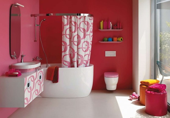 Image of pink-bathroom-ideas-laufen-4